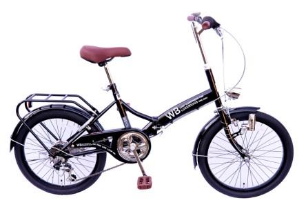J-052F ラグジュリアス206折りたたみ自転車(色 ブラック)【数量限定20台】