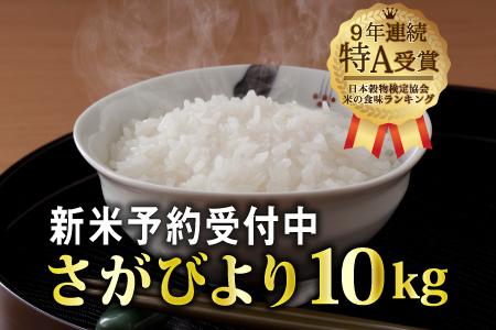 B-434 一等米!!令和元年産 新米さがびより10kg (5㎏x2袋)【先行予約】