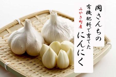 BE013_佐賀県みやき町岡さんちの白ニンニク(にんにく)L玉10個【ご家庭ストックにぴったり】