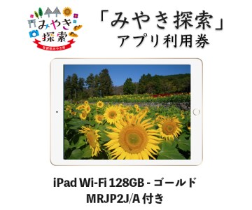 IP-17C みやき探索アプリ利用券(iPad Wi-Fi 128GB ゴールド MRJP2J/A 付き)