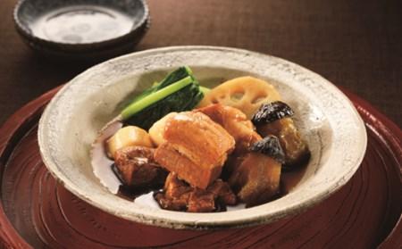 楽縁 豚の角煮と野菜の炊き合わせ