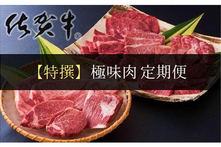 【特撰】佐賀牛・県産和牛 極味肉定期便【毎月1回 計12回お届け】