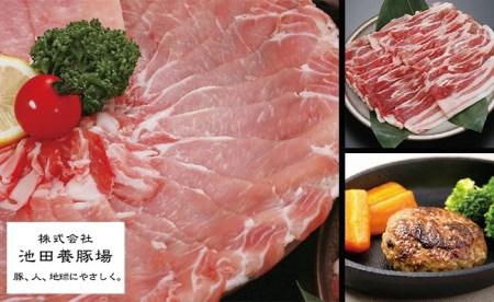 N10-9 ありたぶた3種盛合せセット(しゃぶしゃぶ、焼肉、ハンバーグ)池田養豚場