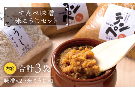 【H-1】てんぺ味噌・米こうじセット