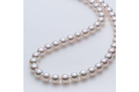 【2632-0042】アコヤ本真珠8.0-8.5mm ネックレス