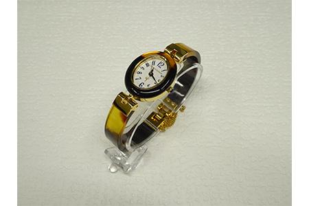 【2632-0079】本べっ甲腕時計
