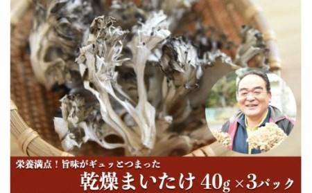 【熊本県・南小国産】うまみ&栄養が自慢♪の乾燥まいたけ40g×3セット