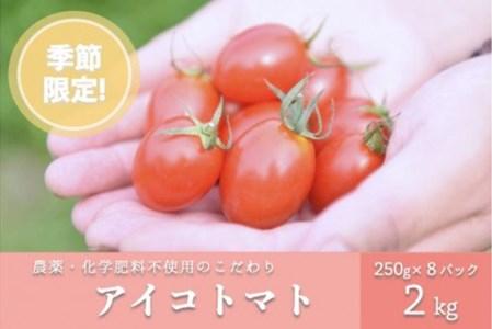 農薬・化学肥料不使用 河津さんの愛情たっぷりアイコトマト 2㎏
