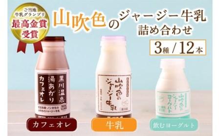 黒川温泉発 山吹色のジャージー牛乳お試しセット 【FOODEX JAPAN 2017 最高金賞受賞】