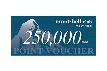 [№5632-0114]モンベルクラブ・ポイントバウチャー250,000pt