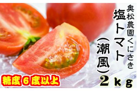 奥松農園自慢の塩トマト2kg(潮風)