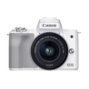 キヤノンミラーレスカメラ EOSKissM2・ レンズキット(ホワイト)