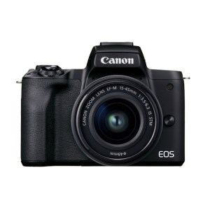 0004C-1_キヤノンミラーレスカメラ EOSKissM2・ レンズキット(ブラック)