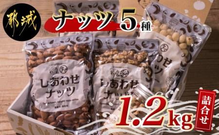 ナッツをたっぷり楽しもう!ナッツ5種1.2kgセット_MJ-9007