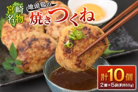 21 ≪宮崎名物≫地頭鶏の焼きつくね(計10個・約850g)