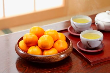 A15-191 ポンカン【姫柑】、有機栽培茶のおこたコラボ
