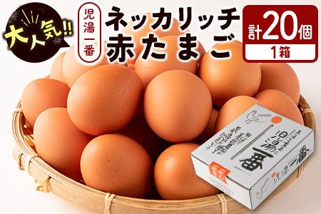 <児湯養鶏自慢の卵>ネッカリッチ赤たまご「児湯一番」20個【A14】
