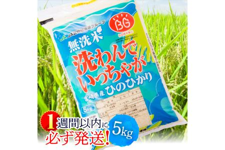 i1609無洗米宮崎ヒノヒカリ5kg