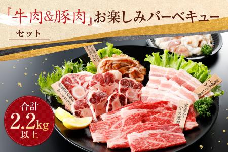 BB18 『牛肉&豚肉』お楽しみバーベキューセット《合計2.2kg以上》