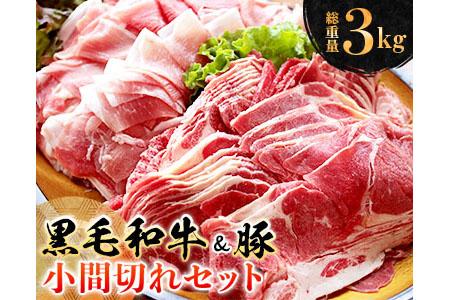 A404 〈黒毛和牛&豚〉小間切れセット(総重量3kg)