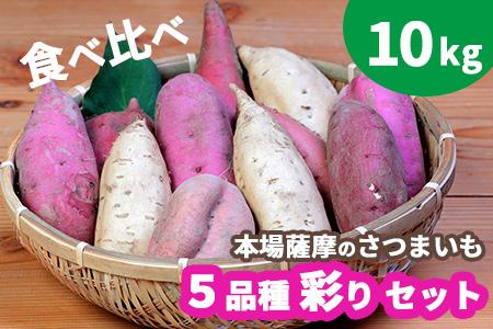 【予約受付中】本場鹿児島さつまいも 5品種 食べ比べ 彩りセット10kg 【※2021年10月上旬から発送】 BB-142