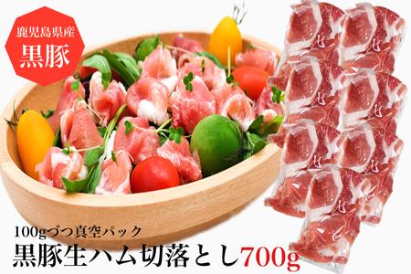 鹿児島産黒豚生ハム切落とし100g×8パック(水迫畜産)