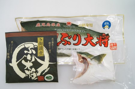 B2-0203/鹿児島県ブランド魚 ぶり大将半身食べつくしセット 今ならブリカマ付!