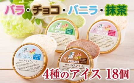 A1-2293/バラ・抹茶など厳選素材の手作りアイス4種