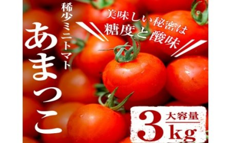 A-340 【10月下旬発送】獲れたて!希少ミニトマト「あまっこ」約3kg