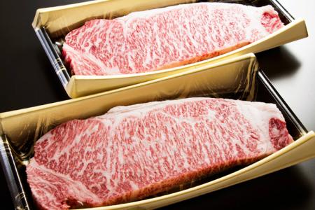 53-H25_【最高ランク5等級】鹿児島県産黒毛和牛サーロインステーキ400g