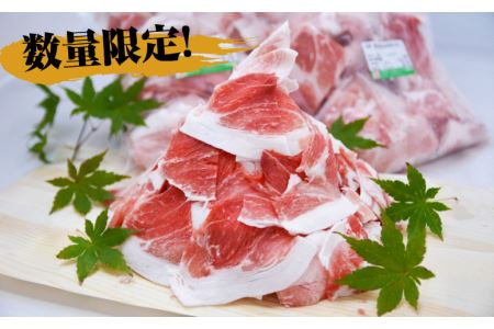 02-H08_【ボリュームパック】鹿児島県産黒豚切り落とし2.1kg