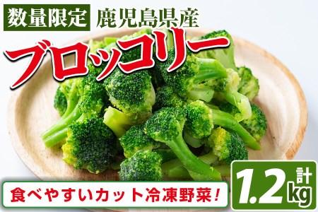 a0-117 鹿児島県産 冷凍ブロッコリー(計1.2kg)