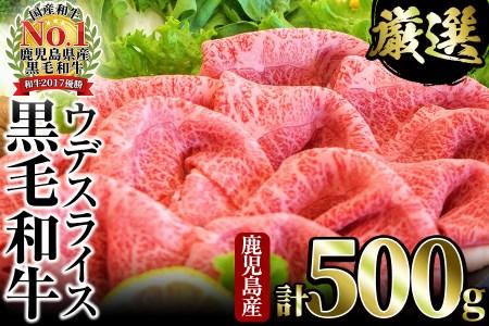 A0-102【高品質赤身肉】濃厚ヘルシー鹿児島黒毛和牛ウデスライス