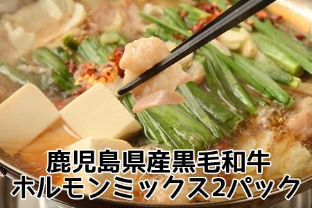 052-16 鹿児島県産黒毛和牛ホルモンミックス2パック