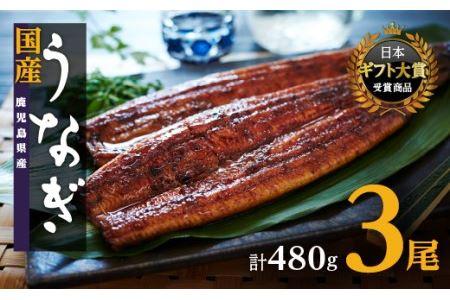 鹿児島県産うなぎ長蒲焼3尾