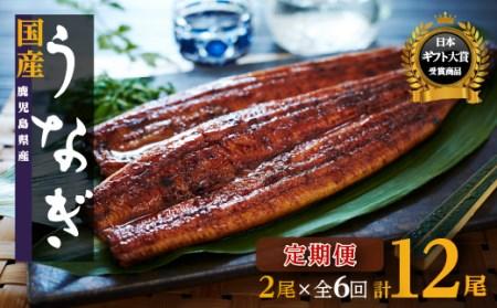 鹿児島県産うなぎ長蒲焼2尾×6回