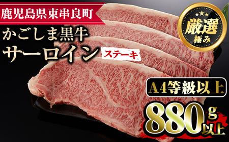 【27432】鹿児島県産黒毛和牛サーロインステーキ(220g×4枚)【デリカフーズ】