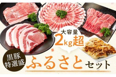 【B02043】黒豚特盛ふるさとセット<約2.3kg>