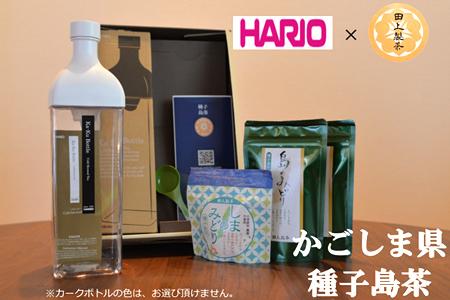 【2610-0443】<鹿児島県種子島産>かんたん!田上製茶の水出し煎茶セット【HARIOカークボトル付】