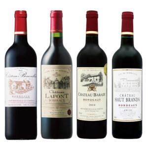 【2610-0005】ボルドー赤ワイン飲み比べ4本セット