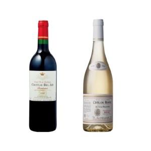 【2610-0006】フランス赤白ワイン2本セット