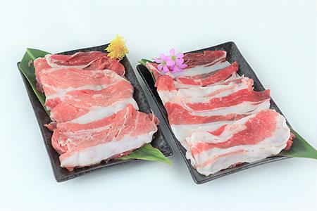 純血琉球在来豚アグー種【黒金豚】しゃぶしゃぶセット(バラ,モモ)