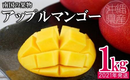 【2020年発送】<あかみね熱帯フルーツ>直送アップルマンゴー1kg