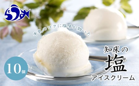 知床の塩アイスクリーム