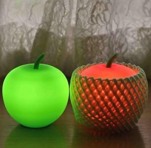 アップルライト(赤・緑)2個セット【LEDランタン】