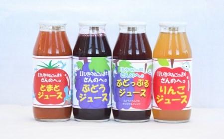 【11ぴきのねこラベル】ストレートジュース・4種10本贅沢セット