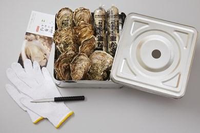 かき小屋気分が楽しめる牡蠣のガンガン焼きとむき身セット