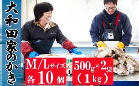 RT089 大和田家の特選殻付き&むき身牡蠣セット