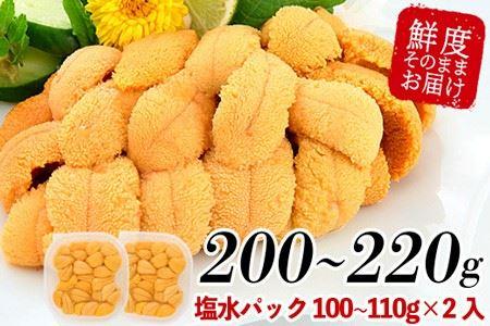 ムラサキウニ塩水パック100~110g×2P A-81001