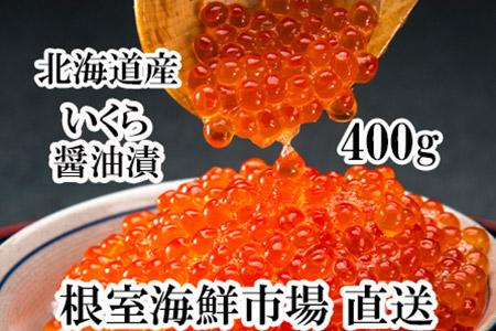 根室海鮮市場<直送>いくら醤油漬け(秋鮭卵)400g(200g×2P) A-28003